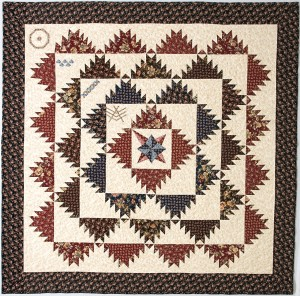 rose colored quilt